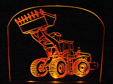 Front End Loader Construction Acrylic Lighted Edge Lit LED Sign / Light Up Plaque