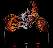 2003 Sportster Motorcycle Acrylic Lighted Edge Lit Bike LED Sign / Light Up Plaque