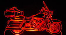 2011 Road King Motorcycle Acrylic Lighted Edge Lit LED Bike Sign / Light Up Plaque