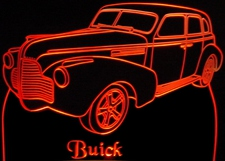 1940 Buick Acrylic Lighted Edge Lit LED Car Sign / Light Up Plaque 40