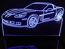 2010 Corvette GS Acrylic Lighted Edge Lit LED Sign / Light Up Plaque Full Size USA Original