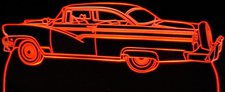 1956 Ford Victoria (no roof glass) Acrylic Lighted Edge Lit LED Sign / Light Up Plaque Full Size Made in USA