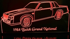 1984 Buick Grand National Acrylic Lighted Edge Lit LED Car Sign / Light Up Plaque