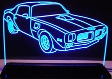 1970 1/2 Pontiac Firebird Trans Am Acrylic Lighted Edge Lit LED Car Sign / Light Up Plaque Full Size USA Original