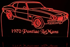 1970 Pontiac LeMans Acrylic Lighted Edge Lit LED Car Sign / Light Up Plaque 70