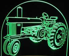 1961 1960 John Deere Tractor 630 Acrylic Lighted Edge Lit LED Sign / Light Up Plaque Full Size Made in USA