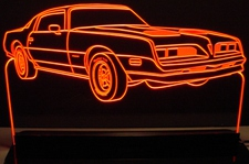 1977 Pontiac Firebird Acrylic Lighted Edge Lit LED Car Sign / Light Up Plaque