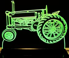 1936 John Deere A Tractor Acrylic Lighted Edge Lit LED Sign / Light Up Plaque Full Size Made in USA
