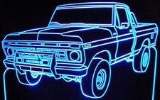 1977 Ford Pickup F150 PU Acrylic Lighted Edge Lit LED Truck Sign / Light Up Plaque