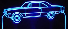 1969 and up Dodge Dart Swinger Acrylic Lighted Edge Lit LED Sign / Light Up Plaque Full Size Made in USA