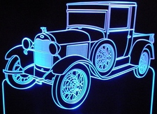 1929 Ford Model A Acrylic Lighted Edge Lit LED Car Sign / Light Up Plaque