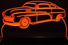 1950 Mercury Acrylic Lighted Edge Lit LED Sign / Light Up Plaque Full Size Made in USA