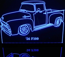 1956 Ford F100 Ford Pickup Truck with Vent Window Acrylic Lighted Edge Lit LED Car Sign / Light Up Plaque