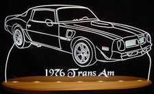 1976 Trans Am Acrylic Lighted Edge Lit LED Sign / Light Up Plaque Full Size USA Original