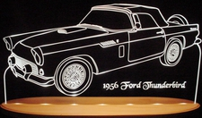 1956 Ford Thunderbird Tbird Acrylic Lighted Edge Lit LED Car Sign / Light Up Plaque