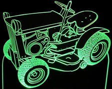 1967 Lawn Mower Tractor John Deere 110 Acrylic Lighted Edge Lit LED Sign / Light Up Plaque Full Size Made in USA