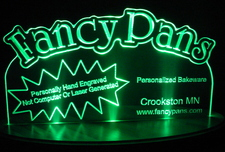 Fancy SAMPLE Advertising Business Logo Acrylic Lighted Edge Lit LED Sign / Light Up Plaque