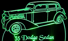 1935 Dodge Sedan Acrylic Lighted Edge Lit LED Car Sign / Light Up Plaque 35