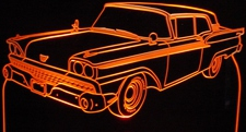 1959 Ford Galaxie 500 Acrylic Lighted Edge Lit LED Car Sign / Light Up Plaque 59