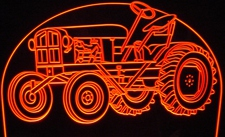 1948 Tractor Acrylic Lighted Edge Lit LED Sign / Light Up Plaque Full Size Made in USA