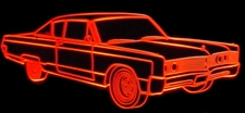 1967 Chrysler 300 Acrylic Lighted Edge Lit LED Car Sign / Light Up Plaque