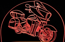 Victory Vision Motorcycle Acrylic Lighted Edge Lit LED Bike Sign / Light Up Plaque