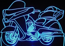 2008 Victory Vision Motorcycle Acrylic Lighted Edge Lit LED Bike Sign / Light Up Plaque