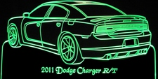 2011 Charger R/T Acrylic Lighted Edge Lit LED Sign / Light Up Plaque Full Size Made in USA