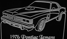 1976 Pontiac Lemans Acrylic Lighted Edge Lit LED Car Sign / Light Up Plaque