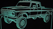 1976 Ford Pickup Truck F150 Acrylic Lighted Edge Lit LED Sign / Light Up Plaque Full Size Made in USA