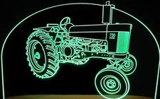 Tractor John Deere 730 Acrylic Lighted Edge Lit LED Farm Equipment Sign / Light Up Plaque