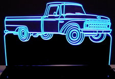 1965 Ford F100 Pickup Truck Acrylic Lighted Edge Lit LED Sign / Light Up Plaque
