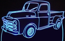 1950 Dodge Fargo Pickup Truck Acrylic Lighted Edge Lit LED Sign / Light Up Plaque Full Size Made in USA