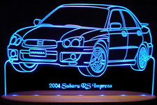 2004 Subaru Impreza RS Acrylic Lighted Edge Lit LED Car Sign / Light Up Plaque