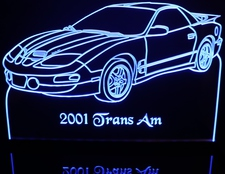 2001 Trans Am Firebird Acrylic Lighted Edge Lit LED Sign / Light Up Plaque Full Size Made in USA