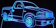 2003 Ford Lightning SVT Acrylic Lighted Edge Lit LED Sign / Light Up Plaque Full Size Made in USA