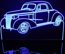 1938 Chevy Coupe 2 Door Acrylic Lighted Edge Lit LED Sign / Light Up Plaque Full Size Made in USA