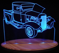 1932 Ford Pickup Truck Acrylic Lighted Edge Lit LED Sign / Light Up Plaque 32