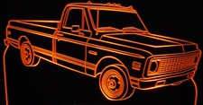 1972 Chevrolet Pickup Truck Cheyene Super Acrylic Lighted Edge Lit LED Sign / Light Up Plaque 72 Chevy