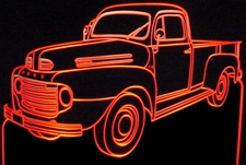 1949 Ford Pickup Truck F3 Acrylic Lighted Edge Lit LED Sign / Light Up Plaque