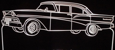 1958 Ford Fairlane 500 Acrylic Lighted Edge Lit LED Sign / Light Up Plaque Full Size Made in USA