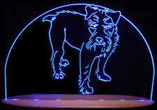 Terrier  Dog Acrylic Lighted Edge Lit LED Pet Animal Sign / Light Up Plaque