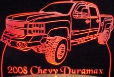 2008 Duramax Acrylic Lighted Edge Lit LED Sign / Light Up Plaque Full Size USA Original