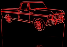 1979 Ford Pickup Truck Acrylic Lighted Edge Lit LED Truck Sign / Light Up Plaque