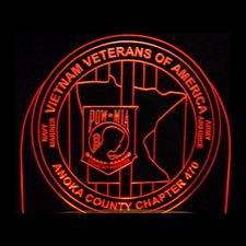 Vietnam Veterans Anoka County Acrylic Lighted Edge Lit LED Sign / Light Up Plaque