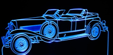 1931 Duesenberg Acrylic Lighted Edge Lit LED Car Sign / Light Up Plaque
