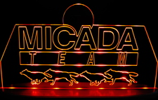 Micada SAMPLE ONLY Advertising Business Logo Acrylic Lighted Edge Lit Led Car Sign / Light Up Plaque