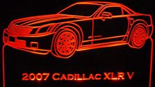 2007 XLR V Cadillac Acrylic Lighted Edge Lit LED Sign / Light Up Plaque Full Size Made in USA