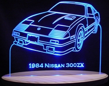 1984 Nissan 300ZX Acrylic Lighted Edge Lit LED Car Sign / Light Up Plaque