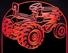 1961 Tractor Acrylic Lighted Edge Lit LED Farm Equipment Mower Sign / Light Up Plaque